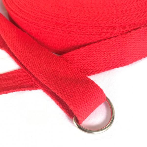 BW-Gurtband, 2,5cm breit, rot